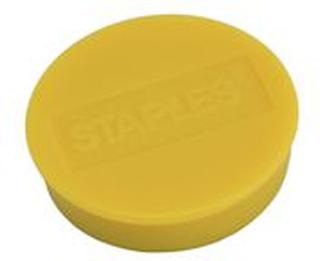 Staples Staples Magnetknappar 35mm gul