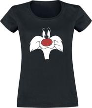 Looney Tunes - Sylvester - Big Face -T-skjorte - svart