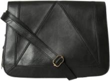 PIECES Leather Crossbody Bag Kvinna Svart