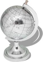 vidaXL Globus med stativ Aluminium Sølv 35 cm