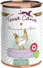 Terra Canis First Aid Skånsom kost 6 x 400 g kalv med gulrot, fenikkel, cottage cheese og kamille