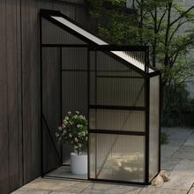 Drivhus til vegg i aluminium 0,87 m² - antrasitt