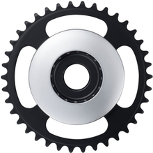 Shimano STEPS E6100 Chainring Cl:46.5mm without chain guard silver 38T 2020 Drev till elcykel