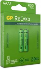 GP AAA-Batteri ReCyko 650mAh 2-pack