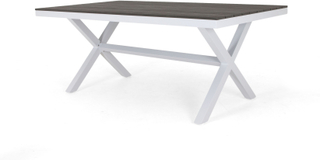 Vegas matbord vit med grå nonwood 200x100 cm