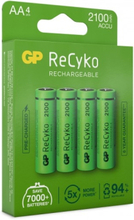 GP AA-Batteri ReCyko 2100mAh 4-pack