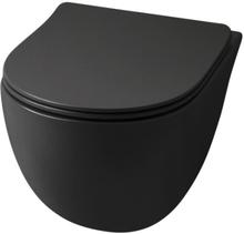 Lavabo File 2.0 Rimless vägghängd toalett, matt svart