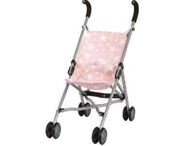 Barrutoys paraply klapvogn - pink stjerner - Ovellie