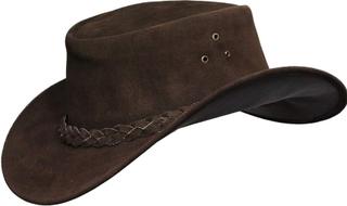 Herr Australian Brun Skinn Ekte Cowboyhatt
