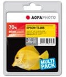 AgfaPhoto - 4-pack - svart, gul, cyan, magenta - bläckpatron (alternativ för: Epson T1284, Epson T1283, Epson T1282, Epson T1281, Epson T1285) - för