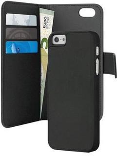 iPhone 5 / 5S / SE Puro Magnetisk Pung Taske - Sort