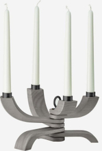 Design House Stockholm. Nordic Light 4-armad ljusstake, grå