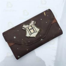 PU Leather Wallet Hogwarts Wallet Female Purse Lady Purses Phone Pocket Card Holder Purse