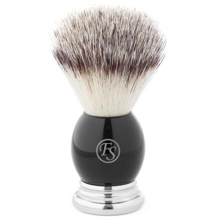 Sølv og Svart Syntetisk Barberkost