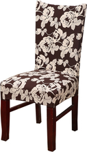 Stretch Chair Cover Spandex Floral Printing Elastic Slipcovers Restaurant Seat Cover for Wedding Hotel Banquet