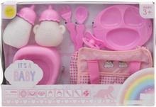 I'ts a Baby Accessories - Docktillbehör 8 Delar Rosa