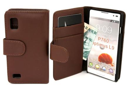 Plånboksfodral LG Optimus L9 (p760) (Brun)