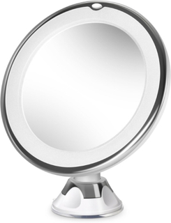 Sminkspegel LED 10x med sugproppsfäste