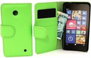 Plånboksfodral Nokia Lumia 630/635 (Grön)