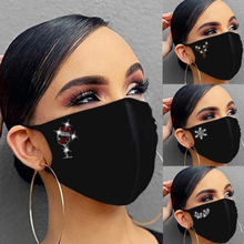 Women Diamond Outdoor Protect Reusable Party Christmas Drill Breathable Fashion Cotton Masks Dustproof Warmth Mascariila masque