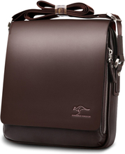 New Kangaroo Luxury Brand Men's Messenger Bag Vintage Leather Shoulder Bag For Men Handsome Casual Crossbody Bag Male Handbags