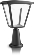 Cottage Pedestal Black 1x4W