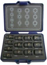 """BATO Krafthylssats 1905, 1/2"""" 10-22 mm med manget, 13 delar"""
