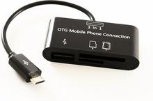 Kortläsare Micro USB 3in1