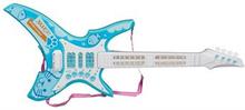 Legetøjs el guitar - Med lys og lyd - 62cm lang - Blå