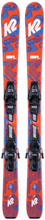 K2 Indy Kids + Fdt 4.5 Set Slalomskidor Orange 88