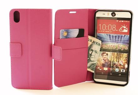 Standcase TPU wallet HTC Desire Eye (Hotpink)