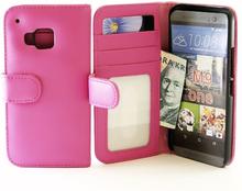 Plånboksfodral HTC One (M9) (Hotpink)