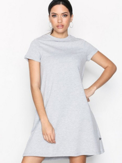Noisy May Nmlucky S/S Pocket Dress Noos Loose fit dresses Lys Grå