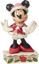 Mickey Mouse - Minnie Mouse Christmas Mini Figurine -Statue - flerfarget