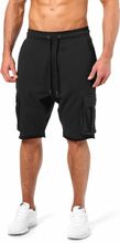 Better Bodies Bronx Cargo Shorts, wash black, large Shorts herr