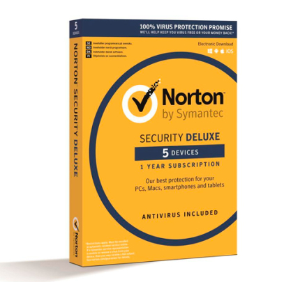 Norton Security DELUXE - 5 enheder / 1 år
