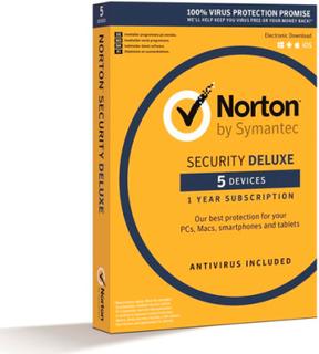Norton Security DELUXE 2019 - 5 enheder / 1 år
