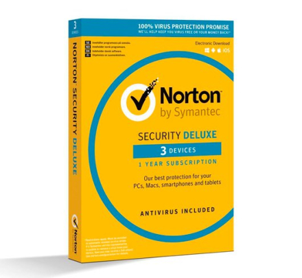 Norton Security Deluxe - 3 enheder / 1 år