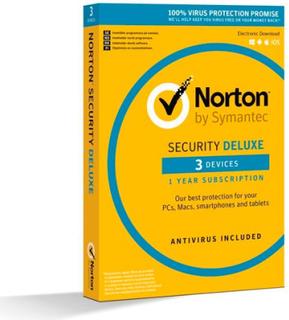 Norton Security Deluxe 2019 - 3 enheder / 1 år