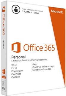 Microsoft Office 365 Personal - 5 enheter / 1 User