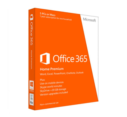 Microsoft Office 365 Home - 5 PC/MAC + 5 Tablets/mobiler
