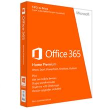 Microsoft Office 365 Home Premium - 30 enheder (6 Microsoft Konti)