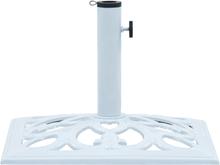 vidaXL Parasollfot vit 12 kg 49 cm gjutjärn