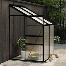 vidaXL drivhus 2,7 m² aluminium antracitgrå