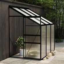 Drivhus til vegg i aluminium 2,41 m² - antrasitt