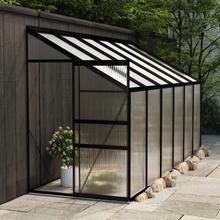 Drivhus til vegg i aluminium 4,71 m² - antrasitt