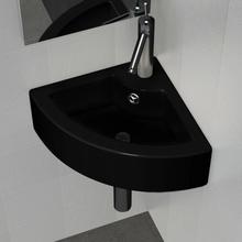 vidaXL Handfat med bräddavlopp 45x32x12,5 cm svart