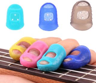 5-pack - gitarr fingerskydd - skyddar fingrar (small)