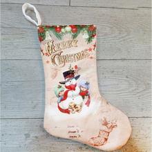 Julstrumpa Julklappsstrumpa - Snögubbe och barn