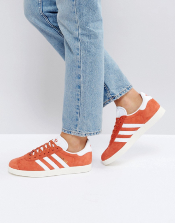 adidas Originals Gazelle Trainers In Orange